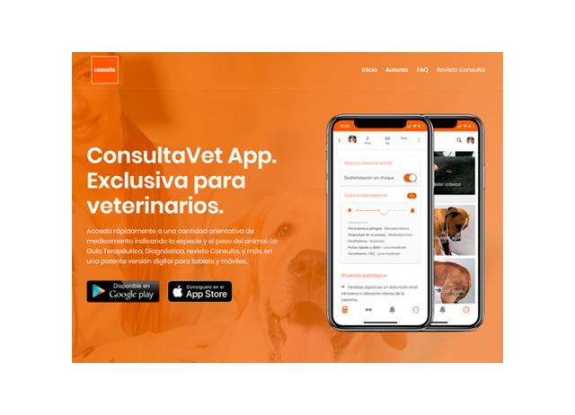 Sitio web App ConsultaVet Veterinaria